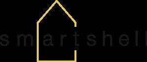 smartshell Logo - Gelbes Haus mit Text smartshell