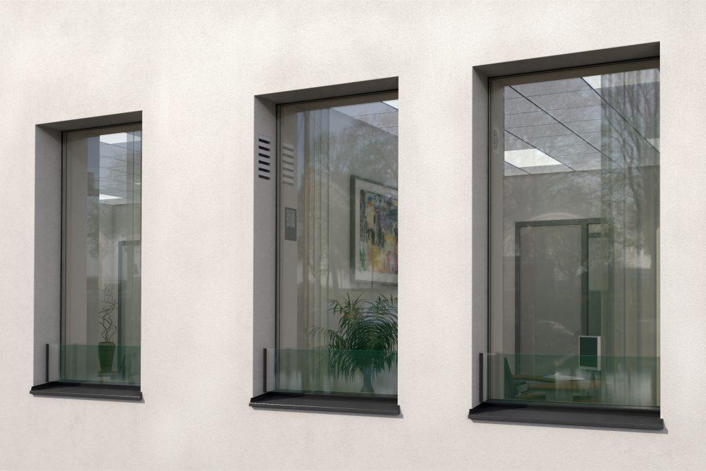 Fenster von Außen mit Sicht auf die smartvent Ventilation