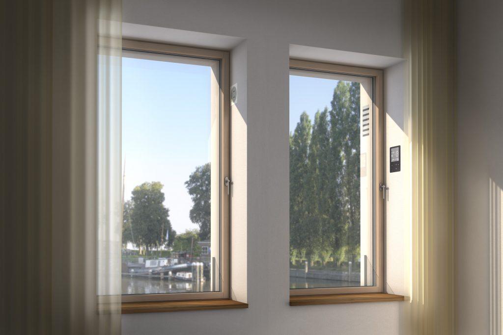 Fenster von Innen mit Sicht auf die smartvent Ventilation